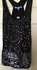 Antonio Melani Black Sexy Sequin Top XS NWT Fabulous For Holidays