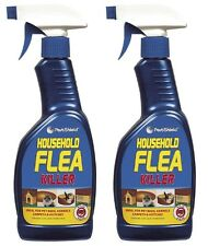 2 x Flea Killing Spray For Cat Dog Bed Carpet Soft Furniture By PetsShield 500ml