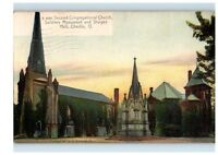 1911 Second Congregational Church, Monument & Sturges Hall, Oberlin, OH Postcard