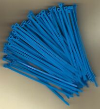 """100 5"""" Inch Long 40# Pound FLUORESCENT BLUE Nylon Cable Zip Ties Ty Wraps USA"""