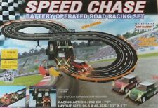 Mini Cooper Speed Chase Battery Operated Road Track Racing Set With 2 Cars