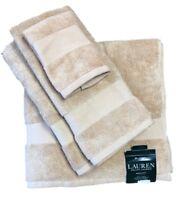 Lauren Ralph Lauren Wescott Set of Bath Towel, Hand Towel & Washcloths - Ochre