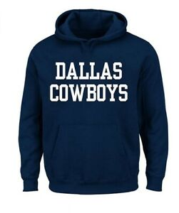 Dallas Cowboys Men's Big & Tall Coaches Pullover Hoody Sweatshirt - Navy
