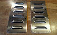 Aluminum jeep rat hot rod louvers louvered plate panel bolt on hood