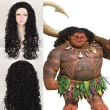 Costume Party Wig Moana Maui Cosplay Long Messy Afro Kinky Curly Black Hair Wigs