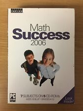 Math Success 2006 - 7 Subjects on 5 Cd-Roms - Ages 10 & Up - Grades 4-12 - New