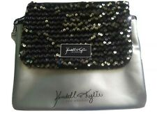 2 Pc. Kendall & Kylie Pouches Cases Sequins Silver Metallic Makeup Bags