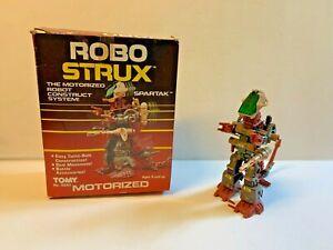 Vintage Tomy Robo Strux Wind Up SPARTAK Dinosaur Robot w/ Box #5250 WORKS 1985