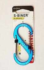 NEW! Nite Ize LSBA4-03-R6 S-Biner Slidelock #4 Aluminium Key Clip Key Holder