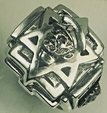 Heilassilassi Star of David Lion of Judah Sterling silver X Lge ring