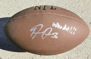 DEMARIO DAVIS New Orleans Saints SIGNED Wilson NFL Football WHO DAT