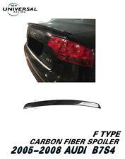 Carbon Fiber Rear Trunk Spoiler Wing For 2005-2008 Audi S4 B7 Sedan 4dr Type F