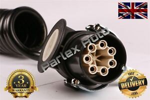 Truck Trailer (TOWING) 7 Pins EBS Coiled Cable Lead 5.5 Meter #OE 8KA007648031