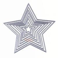 8pcs Stars Cutting Dies Stencil Mold For DIY Scrapbooking Album Paper Card Craft