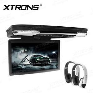 "15.6"" Auto Deckenmonitor DVD Player 1920*1080 Full HD Car Roof FM IR Kopfhörer"