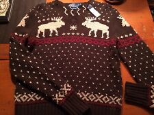 Polo by Ralph Lauren Hand knit Reindeer Sweater (New) Mens M