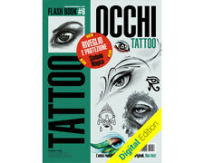 EYE Tattoo Flash Design Book 64-Pages Sketch Body Face Black Color Art Supply