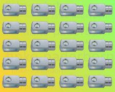 20 x Gabelkopf 5x10 M5 links - verzinkt - ohne Zubehör - Gabelgelenk Gabelköpfe