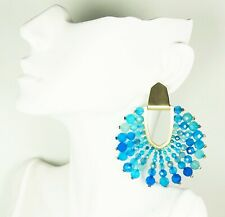 KENDRA SCOTT $175 Diane Gold Plated Blue Agate Statement Earrings