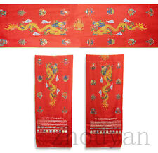 "110"" GIFT! TIBETAN SILK HADA KHATA SCARF: DRAGON & EIGHT TREASURES OF BUDDHA ="
