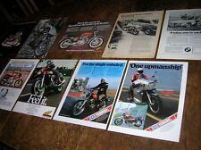 9 orignl full-page bike adverts 1973-99  Honda BMW Yamaha Hesketh Ducati Cagiva