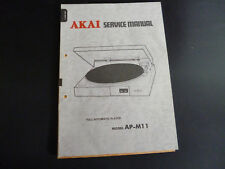ORIGINALI service manual AKAI ap-m11