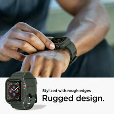 Apple Watch Case + Band Series 6 5 4 SE (44mm)   Spigen®[Rugged Armor Pro]