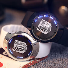 Anime Attack On Titan LED Touch Screen Electronic Wrist Watch Leather Strap Gift