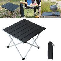 Folding Camping Table / Stool Lightweight Portable Outdoor Aluminium Frame + Bag
