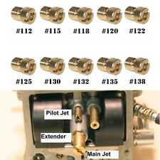 10Pcs Motorcycle Carburetor Main Jet Kit 112/115/118/120/122/125/130/132/135/138