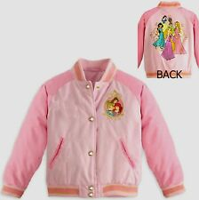 Disney Princesses Varsity Jacket child Size 7-8 M New Girls Princess Ariel Belle