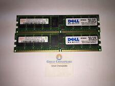 Lot of 2 Hynix HYMP351R72AMP4-E3 4GB 2X4GB=8GB Total PC2-3200R Server Ram TESTED