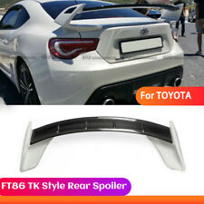 TK Style Carbon + FRP Rear Spoiler Wing Kit For Toyota FT86 GT86 Fit Subaru BRZ