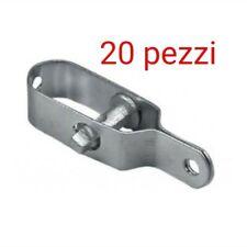 20 pz Tenditore a 2 Occhi Zincato Filetto 10 mm Misura chiuso 200 mm Conf