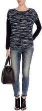 Karen Millen blue multi loose knit jumper top KS198 nwt size 3 =12uk/40eu
