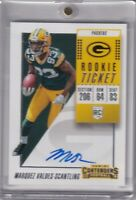 Marquez Valdes-Scantling 2018 Contenders Rookie Ticket Rc On Card Auto