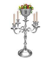 5 Arm Silver Candelabra Flower Vase Candle Holders Wedding Centerpieces 50 CM