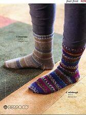 Berroco Knitting Pattern Book #275 - Feet First - 9 Sock Patterns - Men & Women