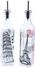Sabichi Set of 2 Glass Olive Oil & Vinegar Dressing Drizzlers Bottles Pourers