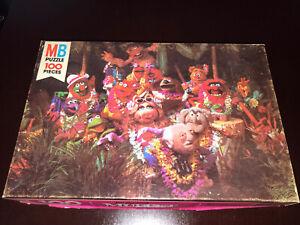 Jim Henson's Muppet Jigsaw Puzzle Happy Hawaiians Vintage 1980 Milton Bradley