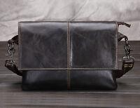 New Men Genuine Leather First Layer Cross Messenger Shoulder Business Luxury Bag