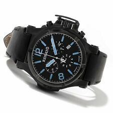 New Mens Renato Swiss Chronograph T-Rex Aviator Ice Blue Markers Watch