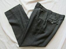 Vtg 50s Ranch Western Wear Wool Rockabilly Pants 36x29.5 Pearl Snap Talon Zipper