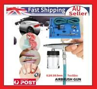 Airbrush Kit Spray Gun Dual Action Air Brush Tattoo Paint Art Tool 0.2/0.3/0.5mm