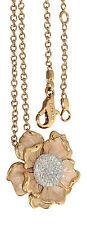 Exklusives Collier Gold 750 mit Brillant Anhänger Blume 0,60 ct. und Goldkette