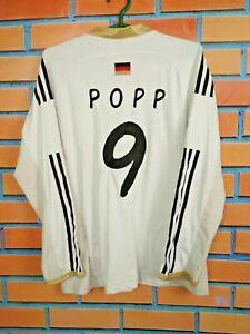 Popp Germany Jersey Women LARGE Long Sleeve Shirt Football Trikot Adidas V14598