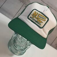 Vintage Snapback Green Mesh Metzen Concrete Patch Front Trucker Hat Cap