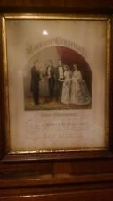 Currier & Ives Original Lithograph Marriage Certificate Civil War 1864 Antique
