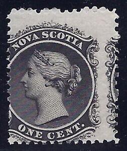 Canada - Nova Scotia #8a - 1c Queen Scarce 2-Way Misperf Error / EFO Mint NH