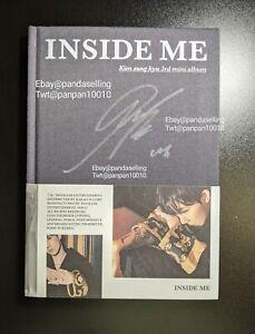 KIM SUNG KYU (INFINITE) Signed album INSIDE ME Autographed PROMO US seller